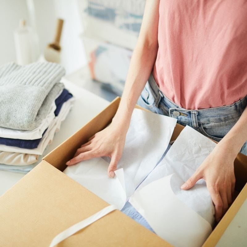Clothing Pick and Pack Services Sewing Laundering Sort and Pack